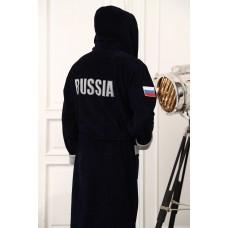 Бамбуковый халат с капюшоном Russia