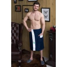 Сауна полотенце на липучке мужской