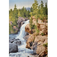 Горный водопад 70х105