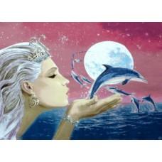 Фея дельфинов 88х66