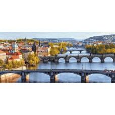 Пражские мосты 90х35