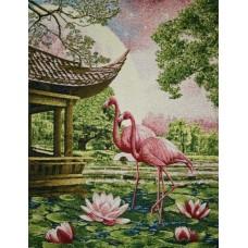 Розовые фламинго 38х50