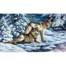 Серые  волки 65х48