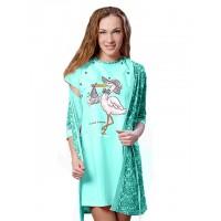 Комплект жен для беременных.(сорочка и пеньюар) Аист