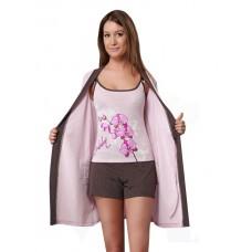 Комплект жен. Орхидея (пижама и пеньюар).
