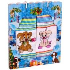 Набор подарочный из 2х полотенец 47*60 Символ года собака