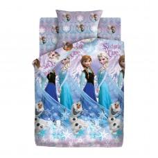 Комплект постельного белья Холодное сердце рис. 8990-1/8991-1 Сёстры и Олаф