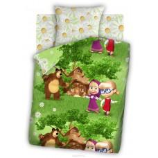 """Постельное белье """"Маша и Медведь"""" рис.8648+8649 вид 1 Двое на одного"""