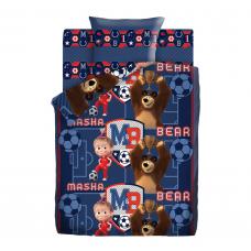Постельное белье Маша и Медведь Команда