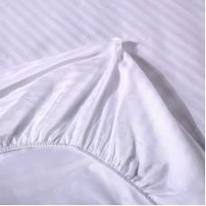 Постельное белье Однотонный страйп-сатин на резинке CFR001