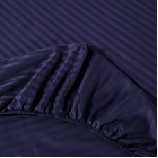 Постельное белье Однотонный страйп-сатин на резинке CFR003