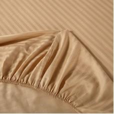Постельное белье Однотонный страйп-сатин на резинке CFR004