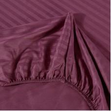 Постельное белье Однотонный страйп-сатин на резинке CFR008