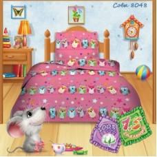 Постельное белье детское кошки-мышки , совы