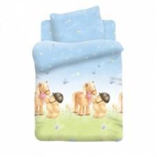 Постельное белье в кроватку поплин Forever Friends , Мишка и пони