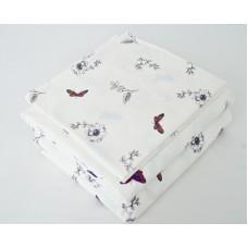 Постельное бельё Бабочки Фланель 100% хлопок