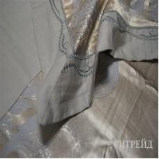 Постельное белье Элитный жаккард с вышивкой, H029