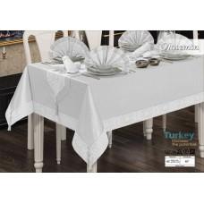Комплект столового белья YASEMIN SET с раннером и 8 салфетками 160*220