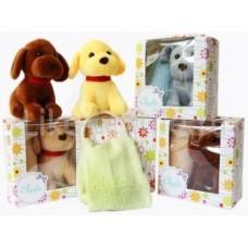 Комплект собачка с полотенцем в коробке