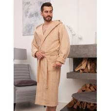 Мужской бамбуковый халат с капюшоном Coragio