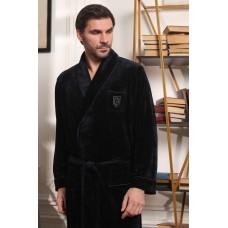Велюровый мужской халат Harvard