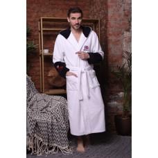 Мужской халат с капюшоном London City