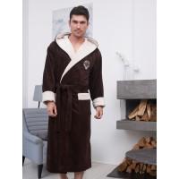 Мужской бамбуковый халат с капюшоном Lucas