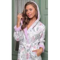Женский бамбуковый халат с капюшоном Garden