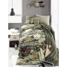 Комплект постельного белья Istanbul Home GENC PEACE (набор с пледом) 1.5 сп