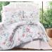 Комплект постельного белья  Ecosse Satin сатин евро(цветочный дизайн)