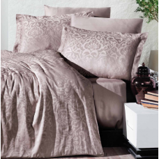 Комплект постельного белья  Ecosse Satin Jakarli Vip сатин евро