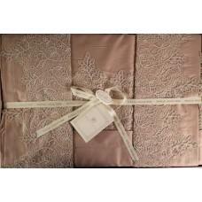 Комплект постельного белья сатин  кружево Турция Евро