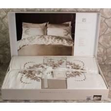 Комплект постельного белья сатин вышивка Турция Евро