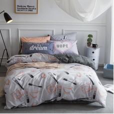Комплект постельного белья Сатин Премиум CP002 Евро наволочки 50-70