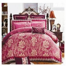 Комплект постельного белья жаккард с вышивкой H022-4 наволочки