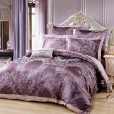 Комплект постельного белья жаккард с вышивкой H052-4 наволочки