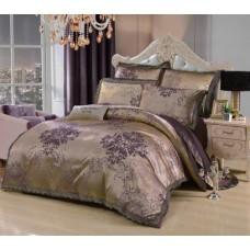 Комплект постельного белья жаккард с вышивкой H054 -4 наволочки
