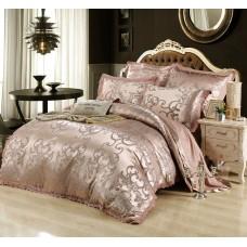 Комплект постельного белья жаккард с вышивкой H044 -4 наволочки