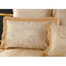 Комплект постельного белья жаккард с вышивкой H045 -4 наволочки