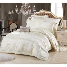 Комплект постельного белья жаккард с вышивкой H046 -4 наволочки