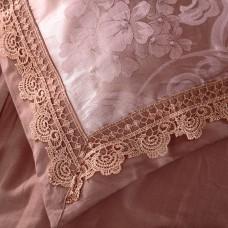 Комплект постельного белья жаккард с вышивкой H049 -4 наволочки