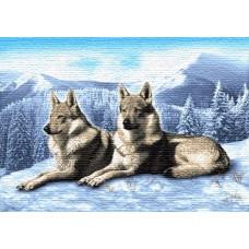 Волки на снегу 100х70