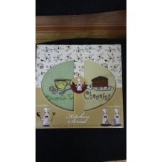 Комплект из 2 -х вафельных полотенец с вышивкой, размер 38*64