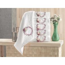 Набор полотенец Pupilla LINDA бамбук (2 шт) (50*90,70*140) белый