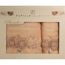 Набор полотенец Pupilla ROSE LİNDA бамбук (2 шт) (50*90,70*140) розовый