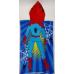 Накидка детская (велюр+махра) АССОРТИ  60х120