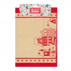 """Кухонный набор """"Новогодние Домики"""" фартук 70 х 64 см, полотенце 64 х 40 см,100% хл"""