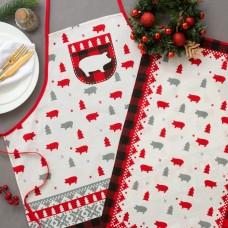 "Кухонный набор ""Любви и счастья"" фартук 70 х 64см, полотенце 64 х 40 см,100% хл"