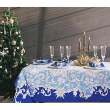 """Набор столовый Этель """"Зимние узоры"""", скатерть 180 х 150 см, салфетки - 8 шт, 100% хл"""