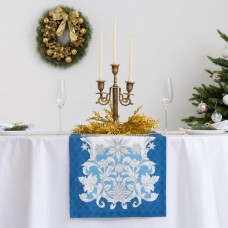 """Дорожка на стол """"Этель"""" Зимние узоры 40х147 см, 100% хл"""